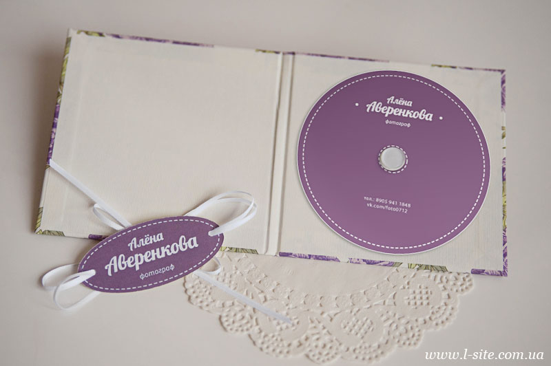 Коробка и конверт для диска для фотографа Алены Аверенковой
