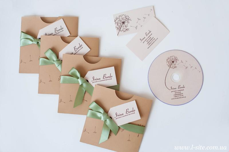 Упаковка для диска для фотографа Ирины Бордо