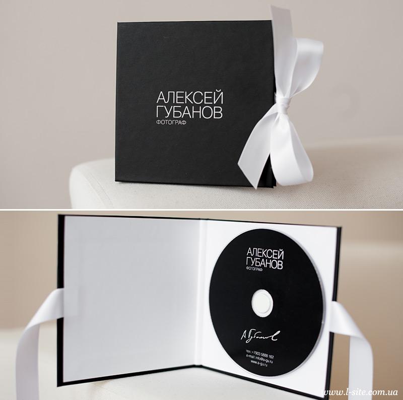 коробка для диска для свадебного фотографа Алексея Губанова