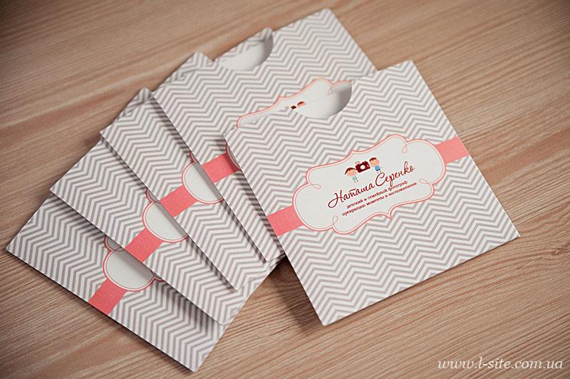 Конверт с вырезом из дизайнерской бумаги (плотный) на 1 диск для Натальи Серенко