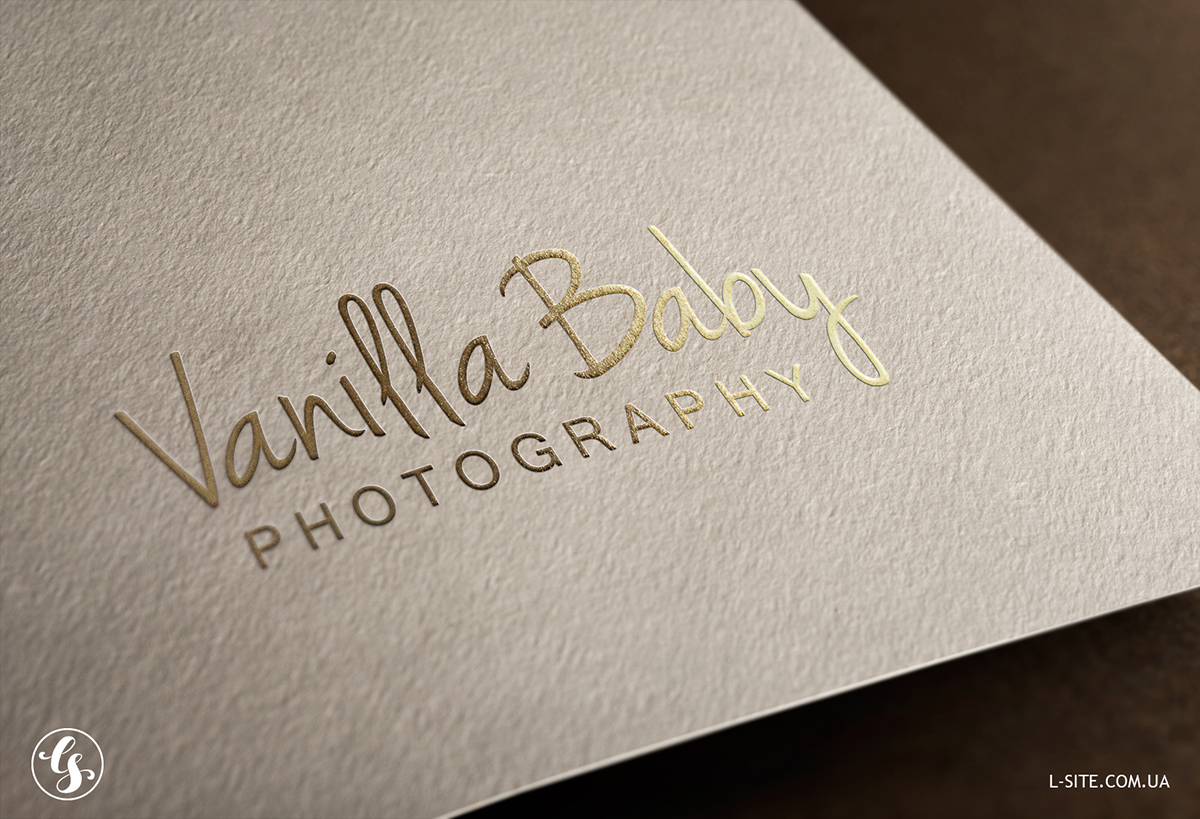 Embossed gold silver logo